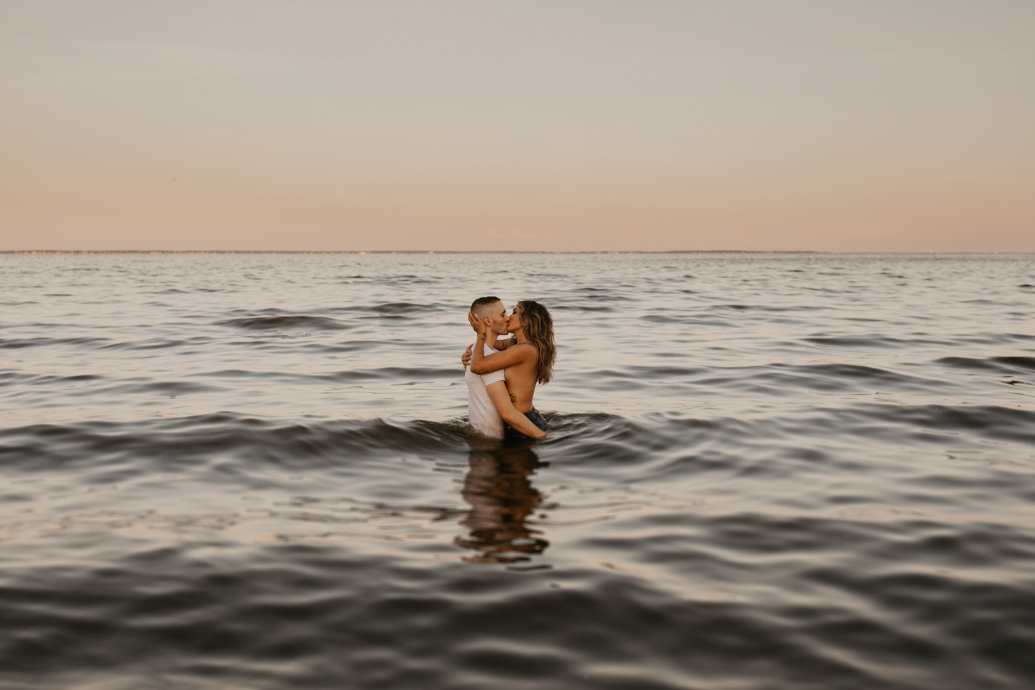 judy and mikie intimate engagement photography beach boho field maryland